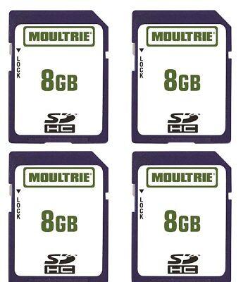 (4) Moultrie 8GB SD Memory Card M-50 M-50I S-50I A-35 M888 M990I Scouting Camera