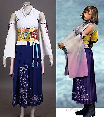 FFX-2 Final Fantasy X Yuna Cosplay costume Kostüm full set summoner mit Jewel