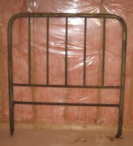 Corroded antique brass double headboard