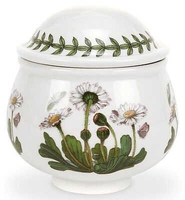 - Portmeirion Botanic Garden 9oz Romantic Covered Sugar Bowl, Daisy (60105)