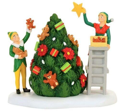 "NEW RARE Dept 56, ""Buddy Decorating The Tree With Jovie"", Elf the Movie, Village"