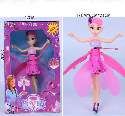 Pink Flying Fairy Magic Elsa Doll Infrared Induction Control Doll Toy Great Gift