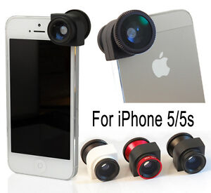 3 in 1 Fish eye Wide Angle Macro Camera Photo Zoom Lens Kit for iPhone 5 5s OEM