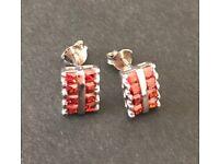 Sterling silver 925 Garnet earrings