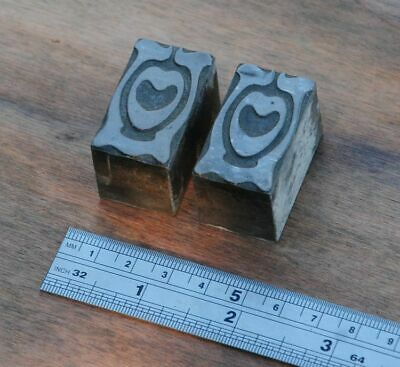 Letterpress Printing Blocks Ornament Art Nouveau Frame Lead Blocks Rare Old Deco