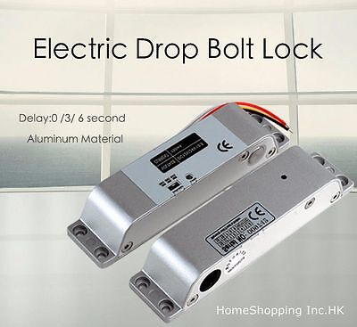 DC12V Fail-Safe Electric Drop Bolt Lock for Door Access Control Easy To Install