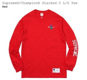 "Supreme x Champion ""Stacked C"" L/S (Large) (IN HAND)"