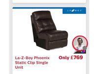 Leather la-Z-boy corner sofa