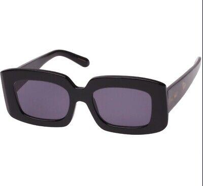 Karen Walker Loveville Sunglasses   Square, Oversized, Acetate, Black $389 RRP