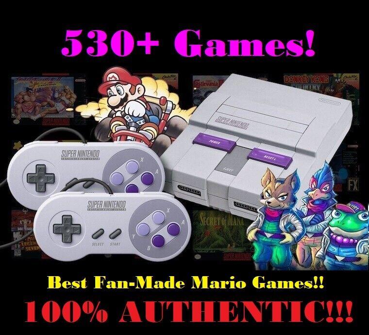 Super Nintendo Classic Mini Edition SNES System - 530+ Games
