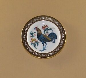 State Birds and Flowers Miniature Plate DELAWARE Blue Hen Chicken Peach Blossom