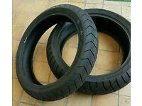 Pair of bridge stone BT020 tyres 120/70x17 180/55x17 motorcycle