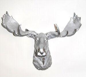 Faux moose head wall sculptures ebay - Fake stuffed moose head ...