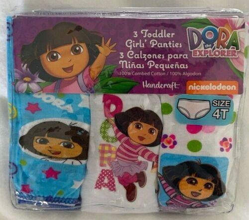 Dora the Explorer 3 Piece Toddler Panties Set Size 4T