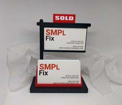 Real Estate Business Card Holder-real Estate Card Display-black Red