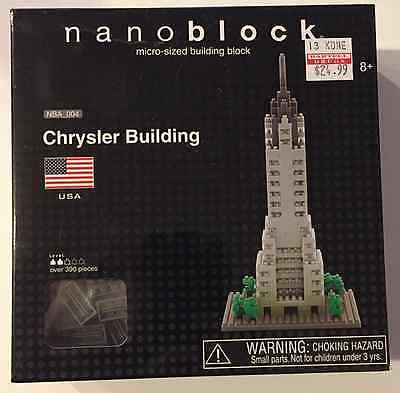 NEW Nanoblock Chrysler Building Micro-Sized Building Block Set NBA_004