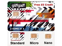 FREE GIFFGAFF SIM from giffgaff ! Also Posted for Free ! Sim GiffGaff Gratis Ottima per Venire in Uk