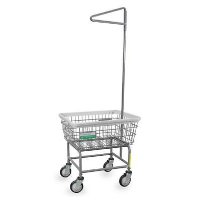 Antimicrobial Standard Laundry Cart w/ Single Pole Rack Model Number 100E91ANTI