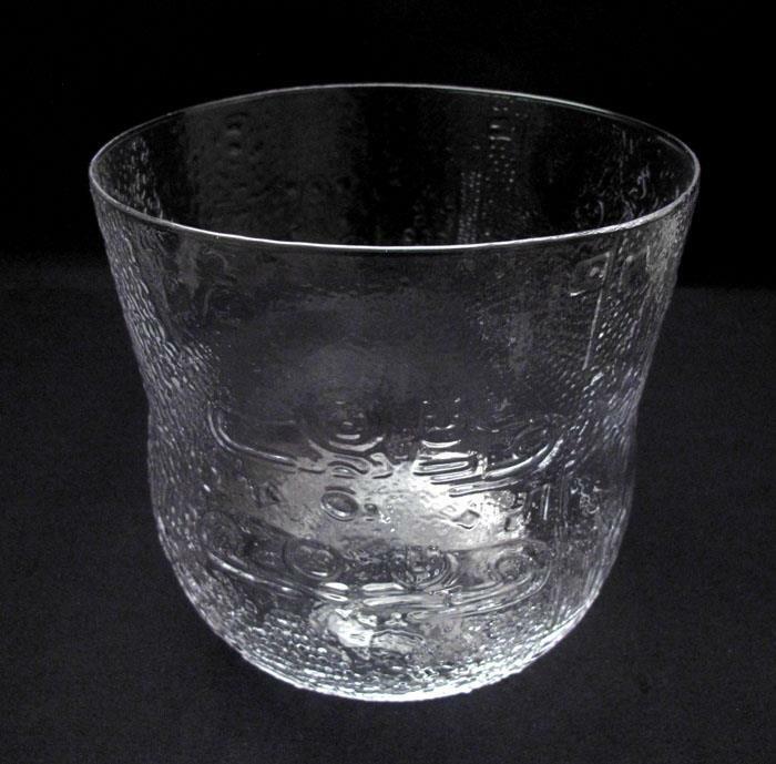 NUUTAJARVI / ARABIA FINLAND LGE FAUNA BOWL TOIKKA MID CENTURY SCANDINAVIAN GLASS