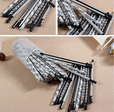 New lot 1 box 68pcs wood music note piano keyboard pencil black and white colour