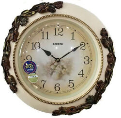 Lisheng Home decor round off white wall clock for home, office or holiday gift