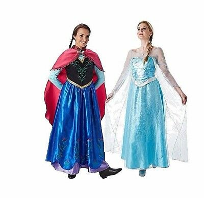 Adult Licensed FROZEN ANNA or ELSA Disney Fancy Dress Costumes Book Week S M L