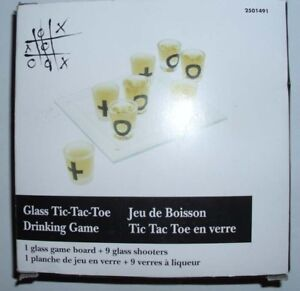 Glass Tic-Tac-Toe Drink Game
