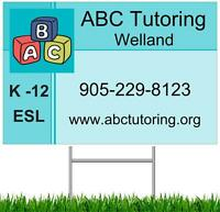 ABC Tutoring Welland (K-Gr 12 and ESL) BACK TO SCHOOL DEALS!
