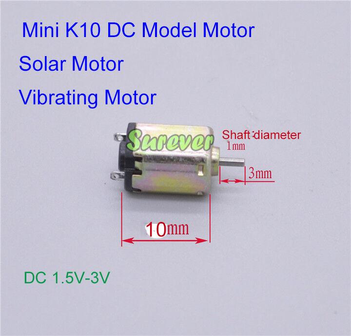 Mini K10 Motor DC1.5V-3V 32000RPM High Speed Micro 10mm DC Motor Hobby Toy DIY