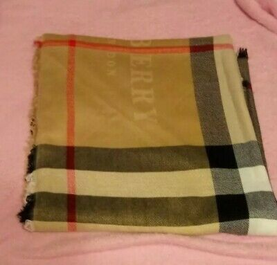 Vintage BURBERRY London Scarf Wrap Shawl