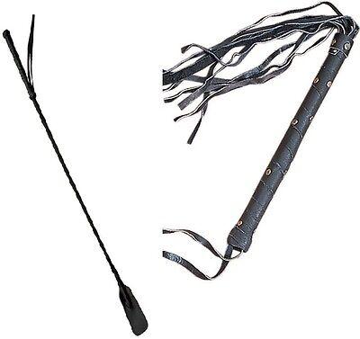 BLACK Horse Riding Whip Crop English Leather Wrist strap /& Keeper UK STOCK