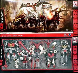BIG SALE Transformers Platinum Edition Dinobots G1 Head Grimlock Slug Slog EMS