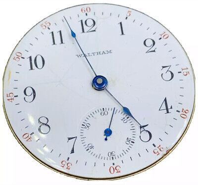 Waltham Grade 18 Pocket Watch Movement 1883 Model 18s 7j Openface Ticking F4005