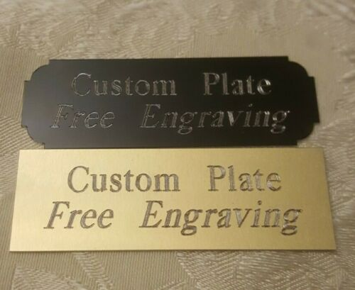 """Engraved Plate, Trophy -Taxidermy - 1""""x 3"""" Gold or Black aluminum free engraving"""