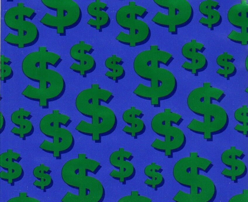 Money Dollar Sign Gift Wrapping Paper -large 25 Foot Roll