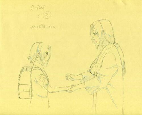 NARUTO Anime Cel Genga Sketch Set #42 Studio Pierrot