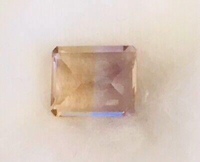 Ametrine Gemstone 3.20 Ct. 8mmx10mm Emerald Cut Loose Citrine Amethyst