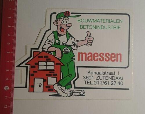 Aufkleber/Sticker: Bouwmaterialen maessen Zutendaal (17011760)