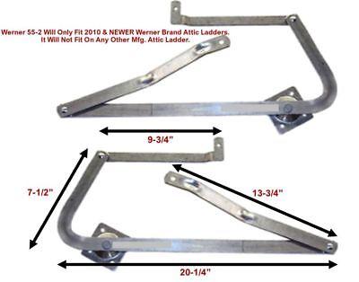 Werner 55-2 - Attic Ladder Spreader Hinge Arms - Mfg After 2010 - Pair