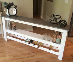Rustic Country Chic Sofa Table Belleville Belleville Area image 1