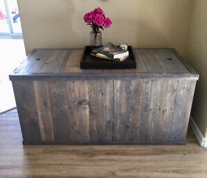Reclaimed Wood Storage Box/ Coffee Table