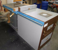 Table Saw and Router Cabinet Combination