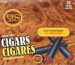 24 Y&S Old Fashioned Licorice Candy Cigars 450g