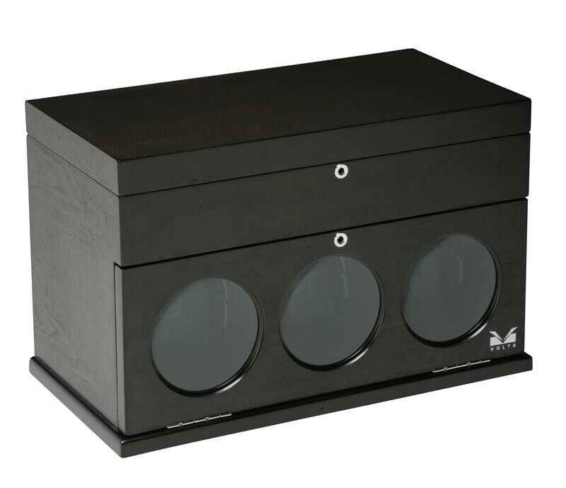 Volta Automatic Triple Watch Winder (dark Brown) - Belleview Collection