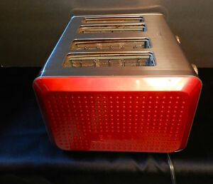 Red Bella Dots 4 Slice Toaster Used in Great Condition!