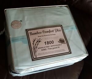 New Bamboo Comfort Plus1800 King Size Sheet Set