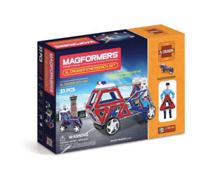 Brand New in Box Magformers XL Cruisers Emergency Set