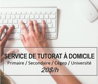 Tutorat 20$/h: Maths, Sciences, Français, Anglais , etc !