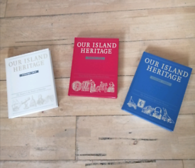 Books. Our heritage Island volumes, 1 to 3.