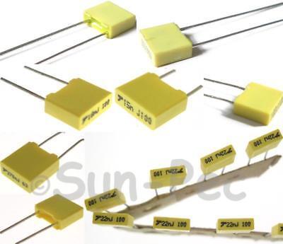 Polyester Film Capacitor Cbb5 63v 100v 400v Options 0.001uf-2.2uf 5-40pcs